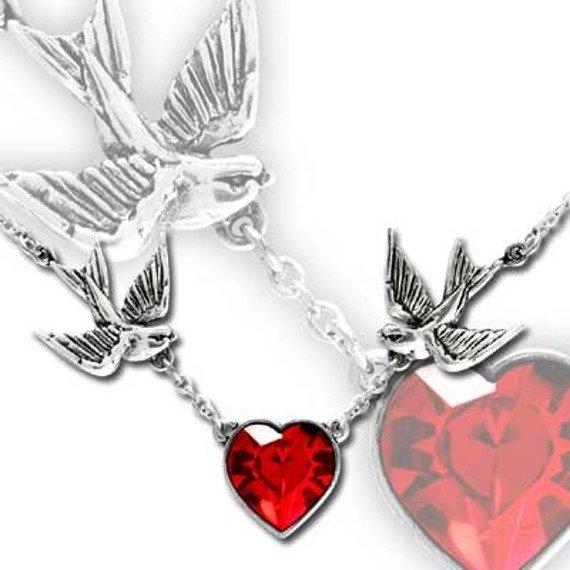 wisiorek SWALLOW HEART UL17