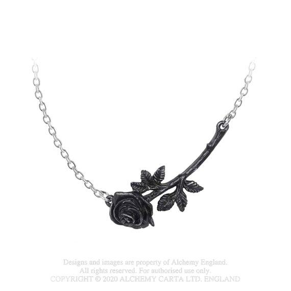 wisiorek z łańcuszkiem BLACK ROSE ENIGMA