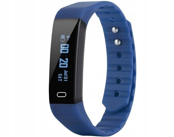 zegarek SMARTBAND KROKOMIERZ OLED blue