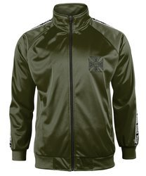 bluza rozpinana WEST COAST CHOPPERS - TRACKSUIT JACKET, olive, stójka rozpinana